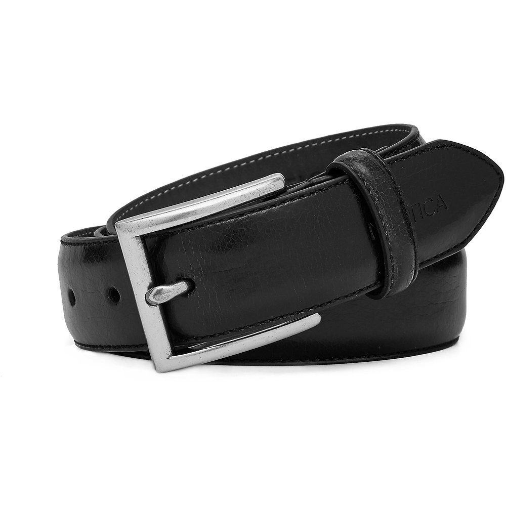 32mm Leather Belt With Stitch