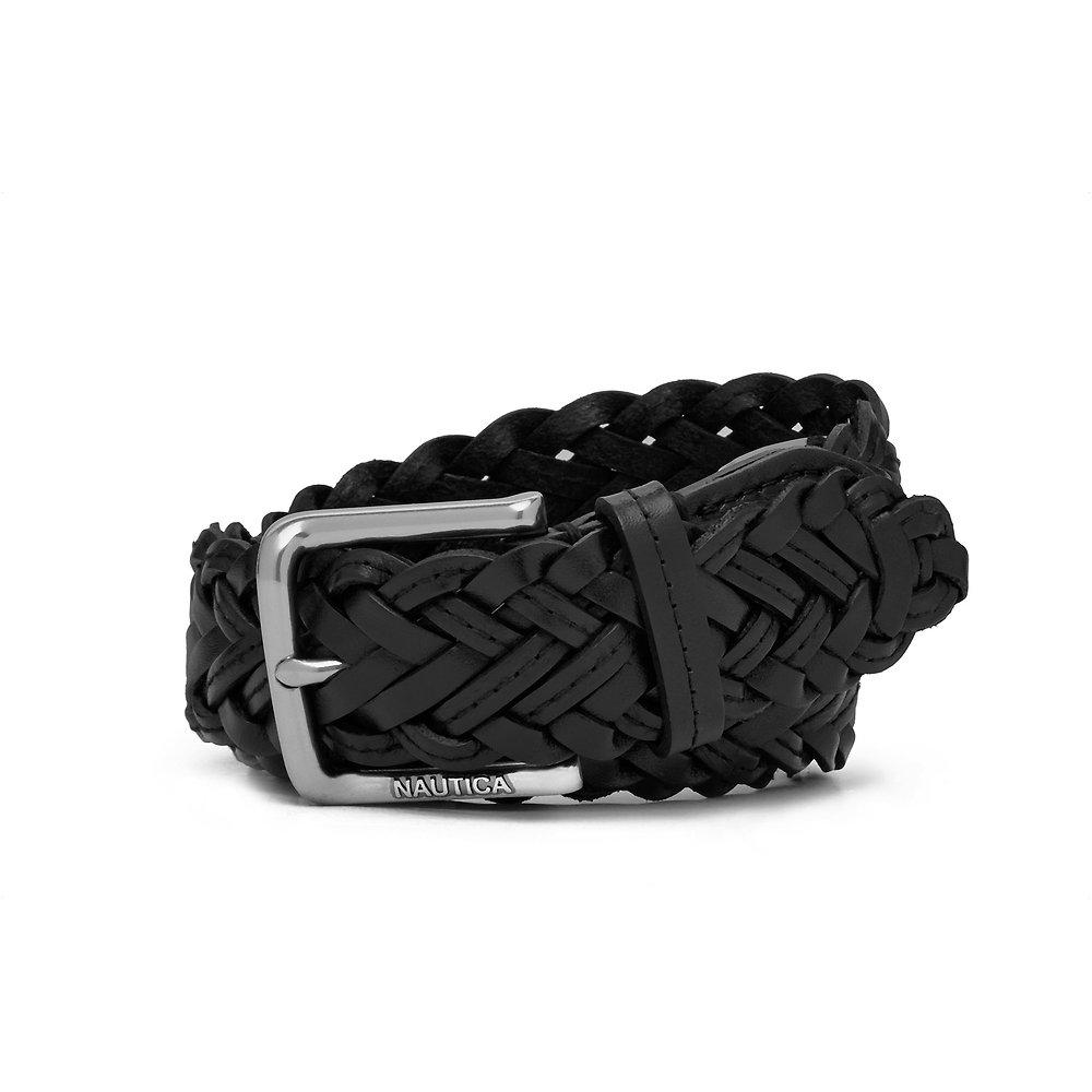 Nautica 35mm Classic Braided Leather Belt