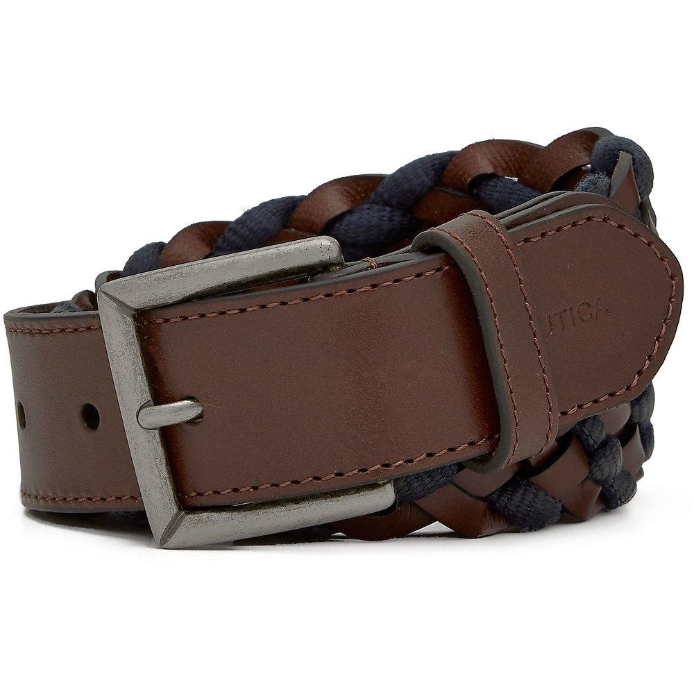 Nautica 35mm Braided Leather Belt