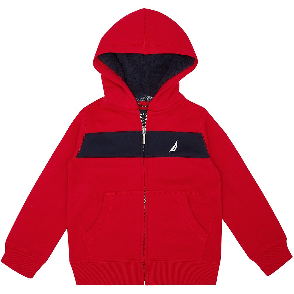 Nautica LITTLE BOYS (2-7) FULL ZIP COLOUR BLOCK HOODIE