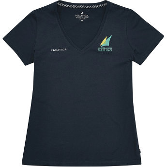 Nautica Women's Official Australian Sailing Team Short Sleeve T-Shirt