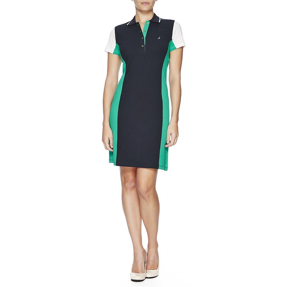 Nautica Short Sleeve Colour Block Polo Dress