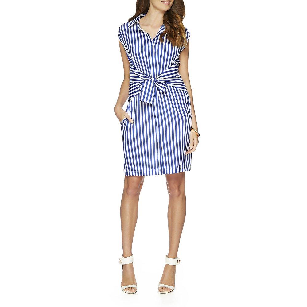 Nautica Sleeveless Stripe Shirt Dress