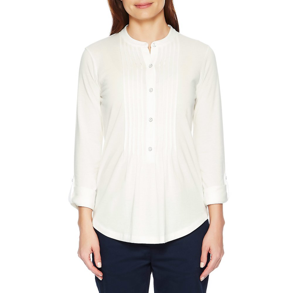 Nautica Long Sleeve Button Tunic