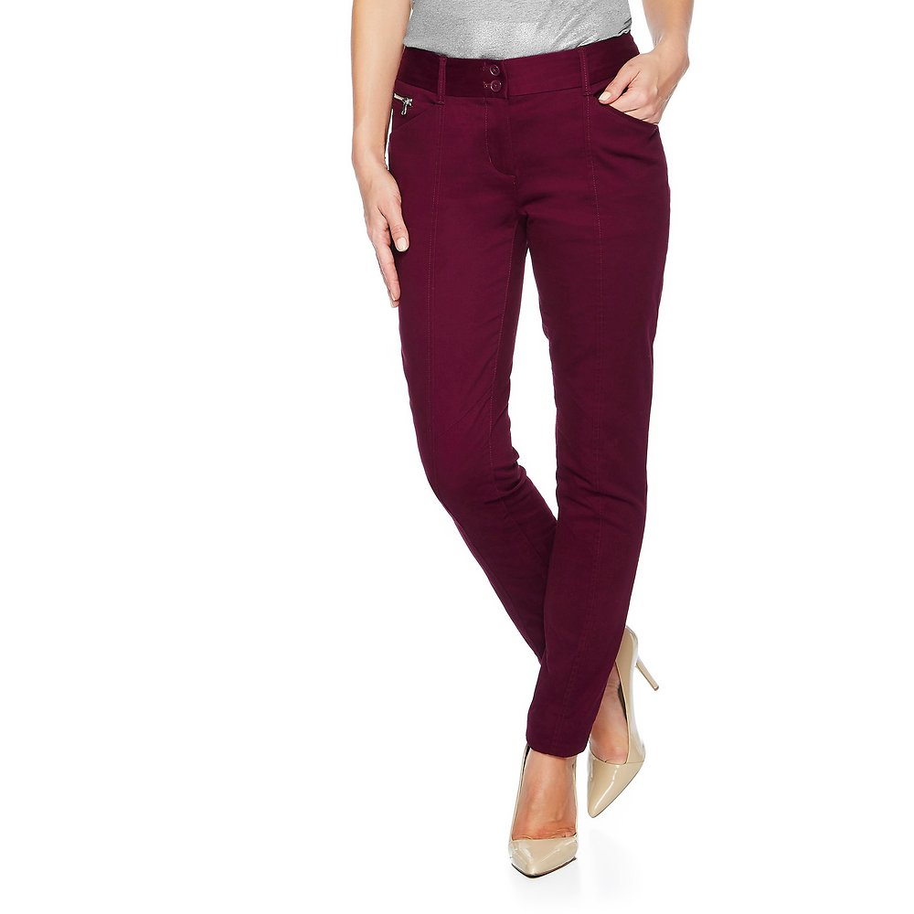 Skinny Seamed Brushed Sateen Pant