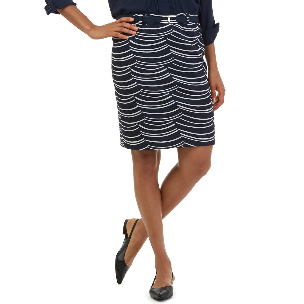 Nautica Belted Pencil Skirt
