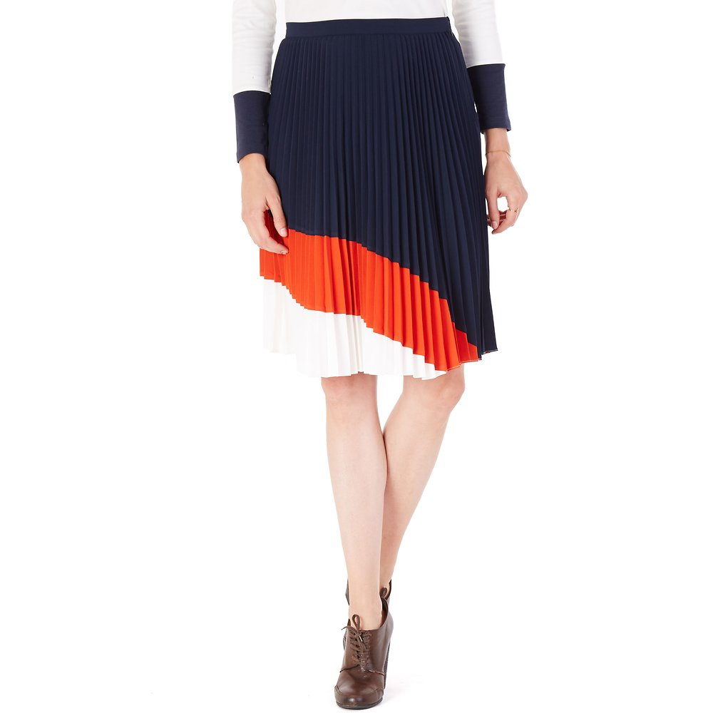 Nautica Pleated Midi Skirt