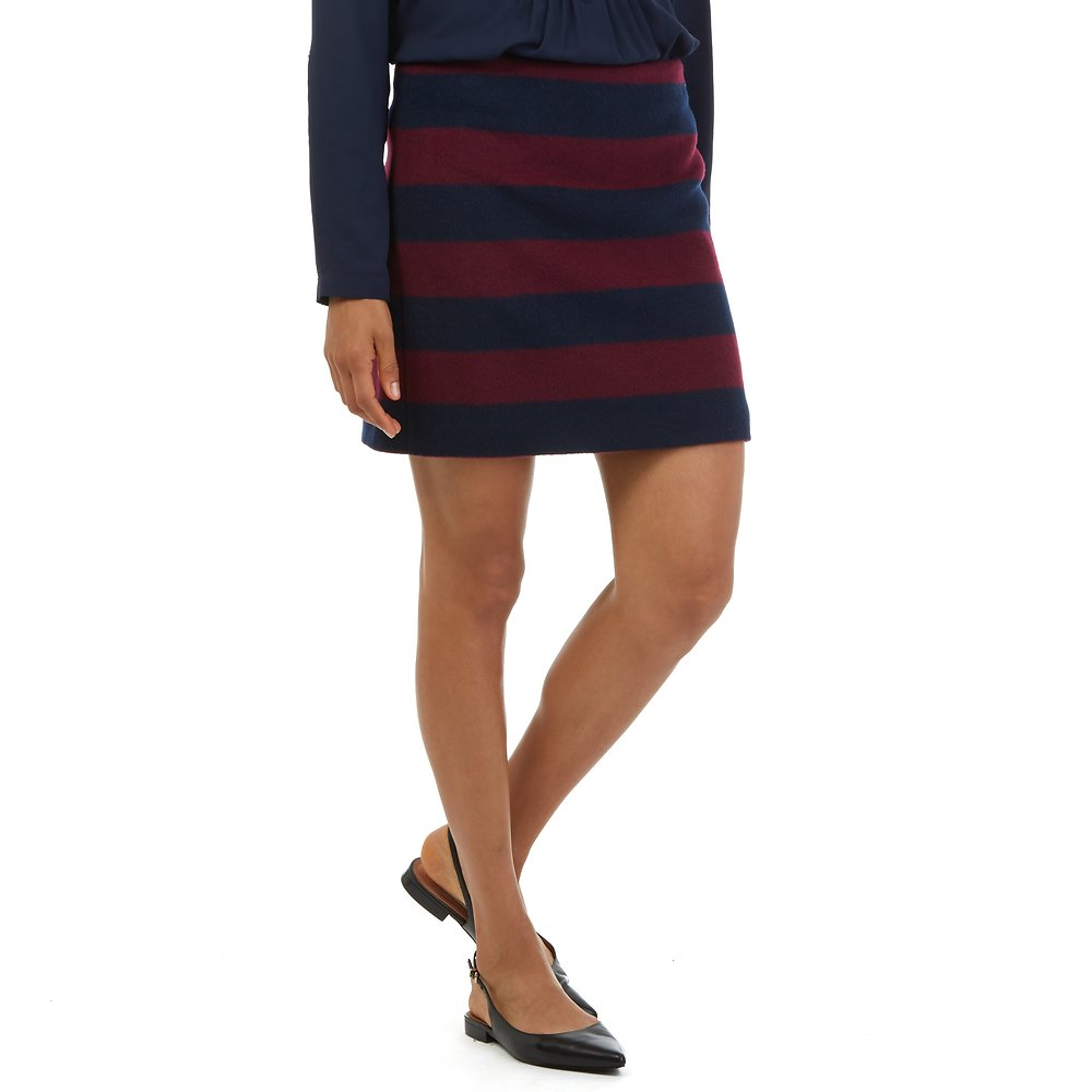 Nautica Striped Above The Knee Skirt