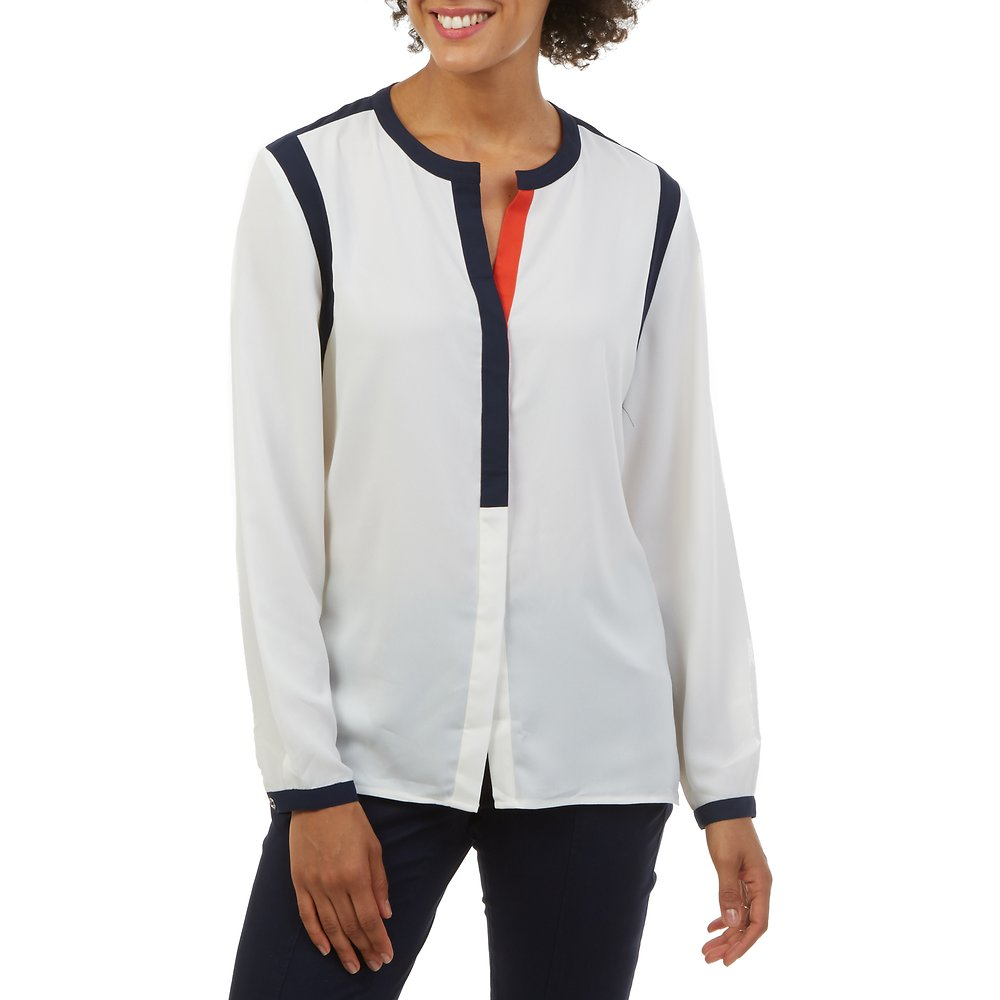 Nautica Framed Button Front Blouse