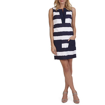 Nautica Striped Basket Weave Dress