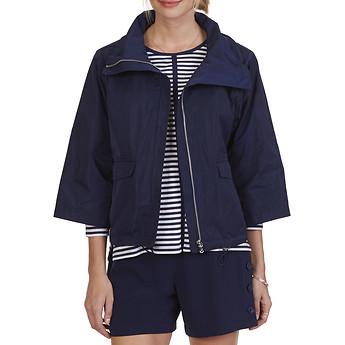 Nautica Boxy Memory Nylon Cropped Jacket