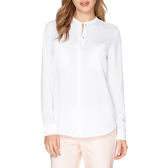 Nautica Long Sleeve Pocket Blouse