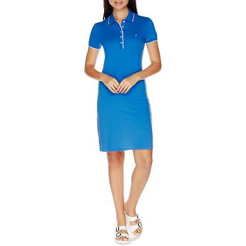 Nautica 5 Button Cotton-Modal Tipped Polo Dress