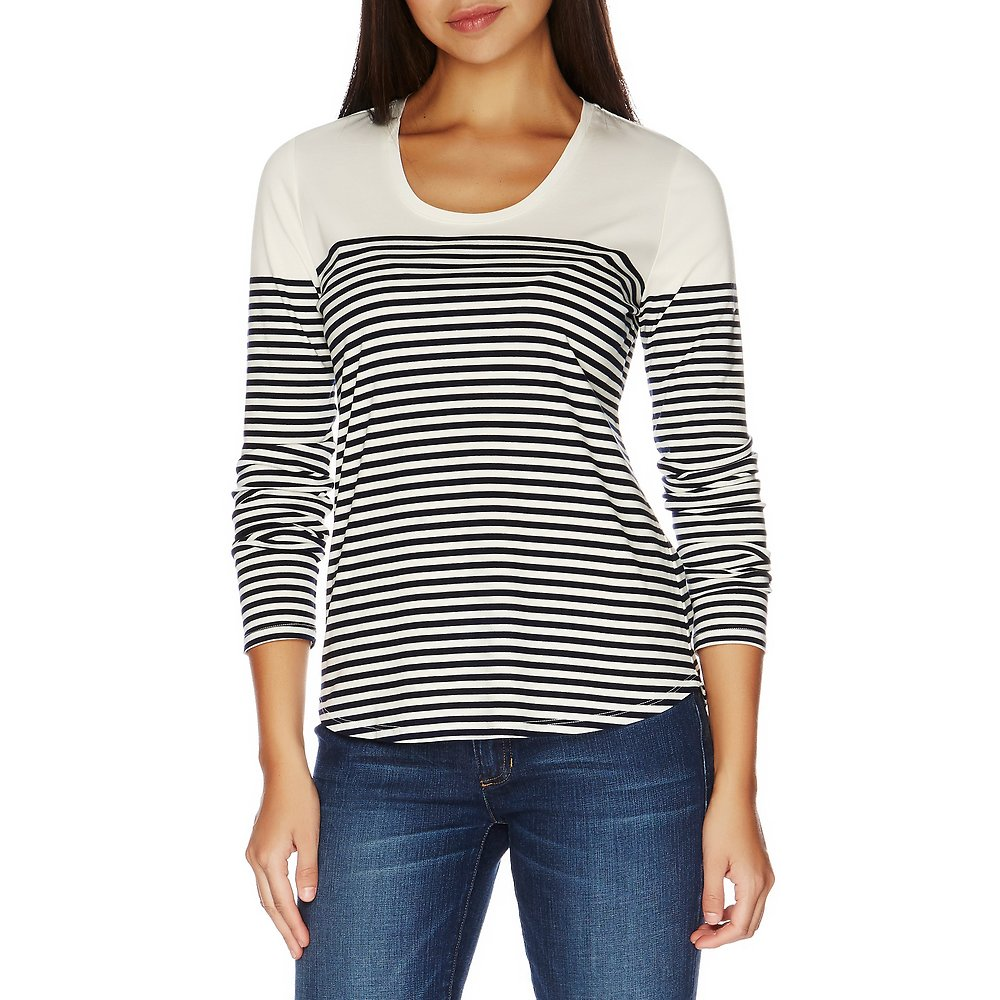 Nautica Long Sleeve Breton Stripe Top