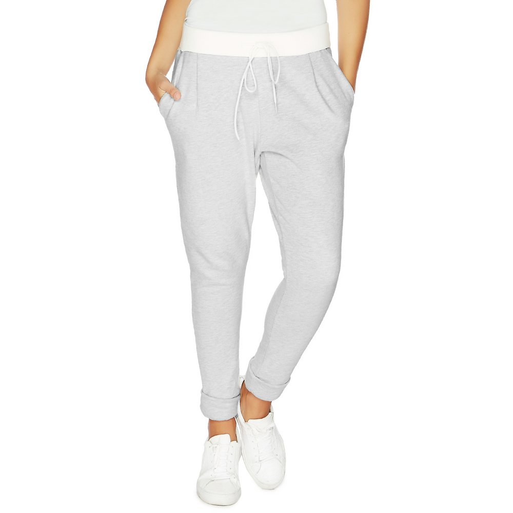 Contrast Drawstring Waist Tapered Track pant