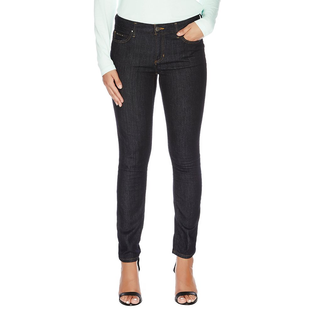 Five Pocket Dark Denim Straight Leg Jean