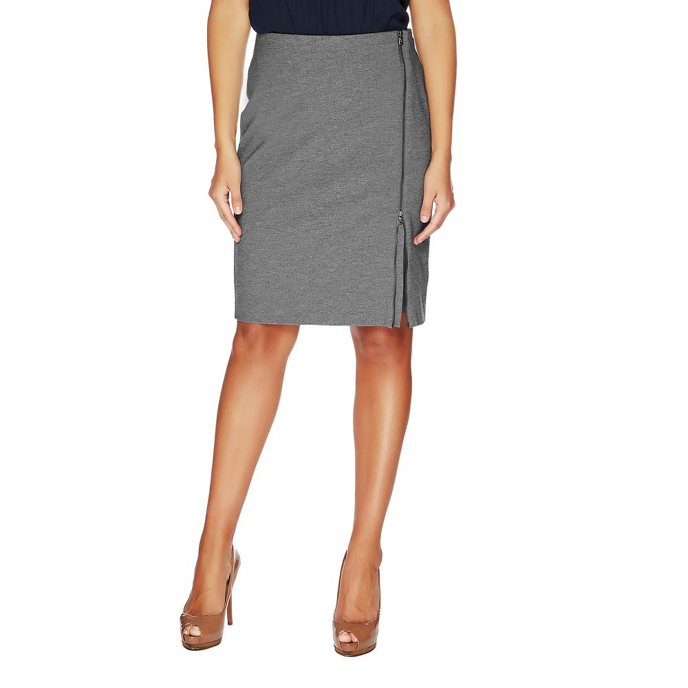 Nautica Two-way Zip Ponte Pencil Skirt