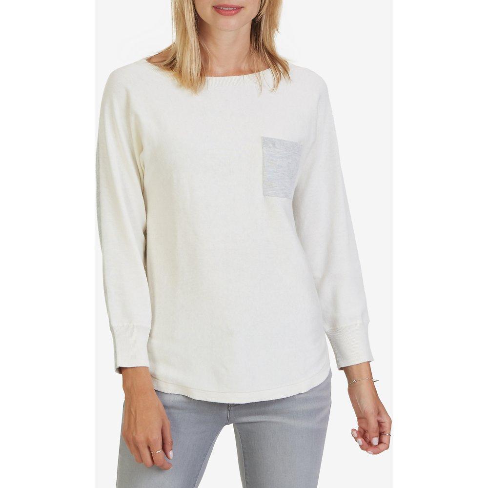 Two-Tone Three-Quarter Dolman Sleeve Sweater