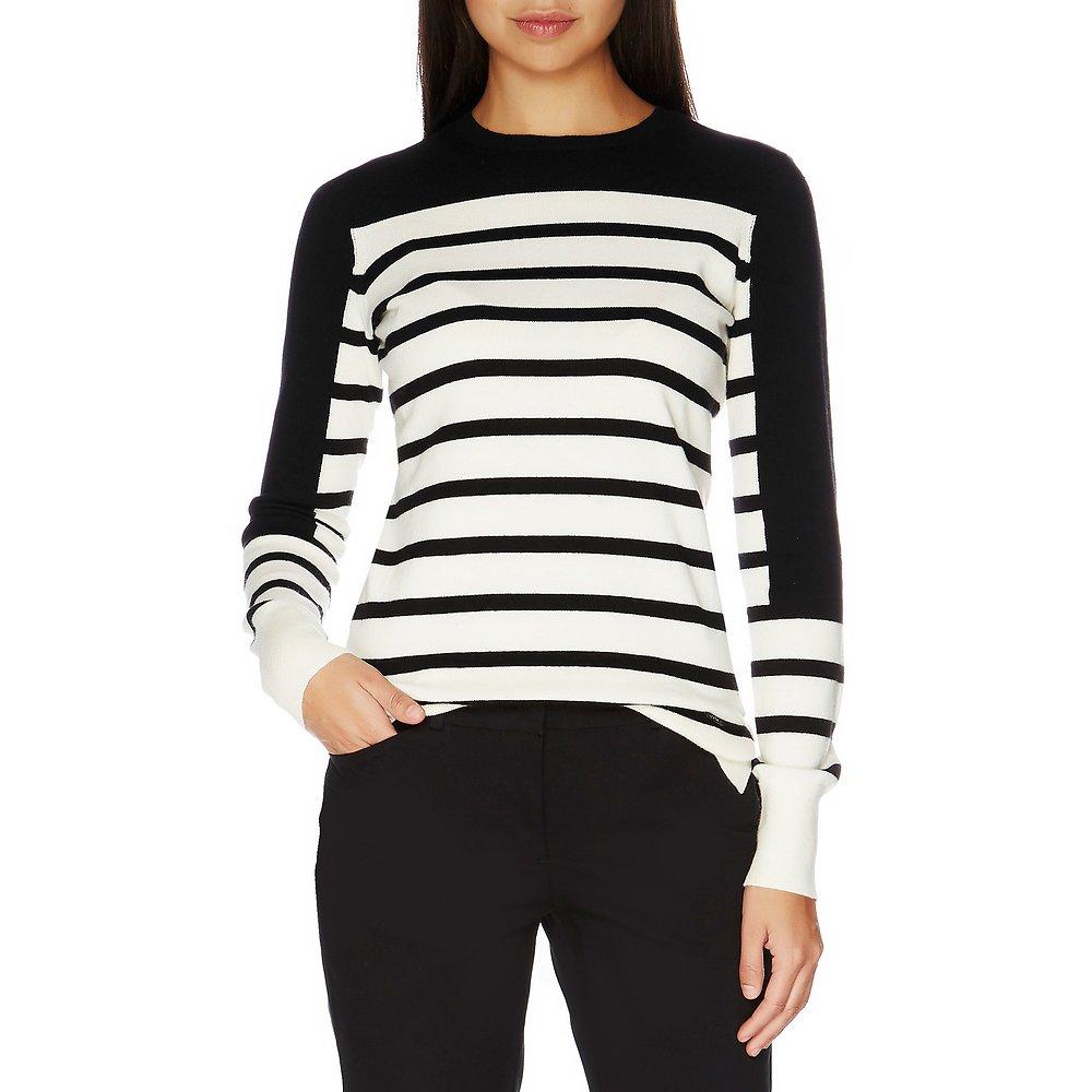 Long Sleeve Solid & Stripe Sweater