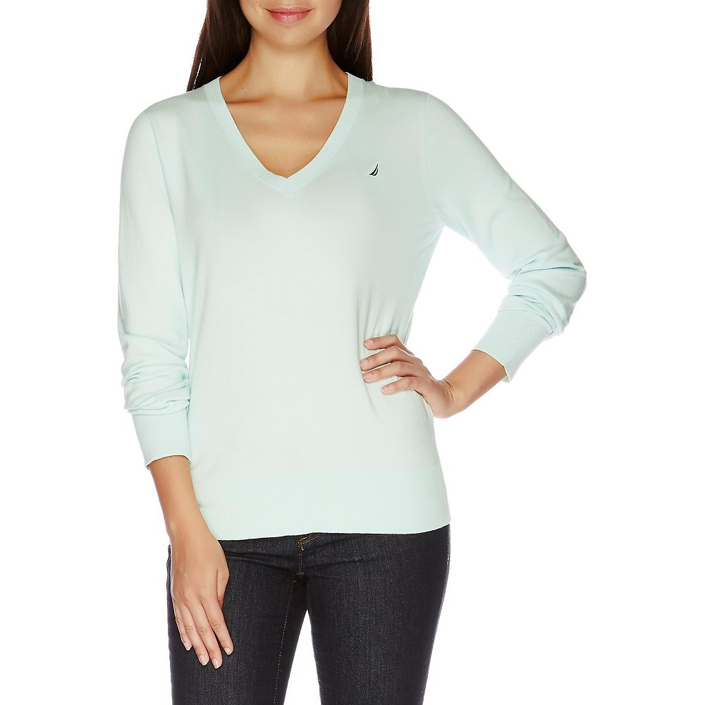 Long Sleeve Essential V-neck Sweater
