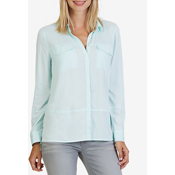 Nautica Long Sleeve Hidden Button-Front Shirt