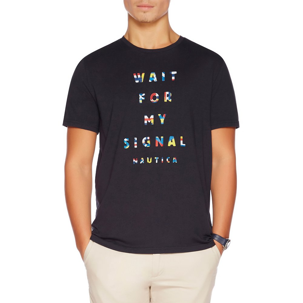 SHORT SLEEVE WAIT FOR MY SIGNAL T-SHIRT