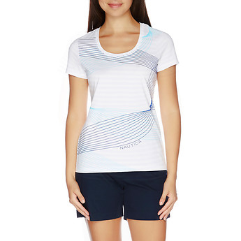 Nautica CAP SLEEVE GRAPHIC T-SHIRT
