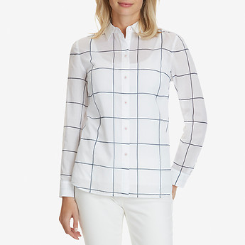 Nautica LONG SLEEVE WINDOWPANE SHIRT
