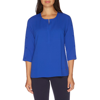 Nautica ELBOW BUTTON PLACKET SLEEVE TOP