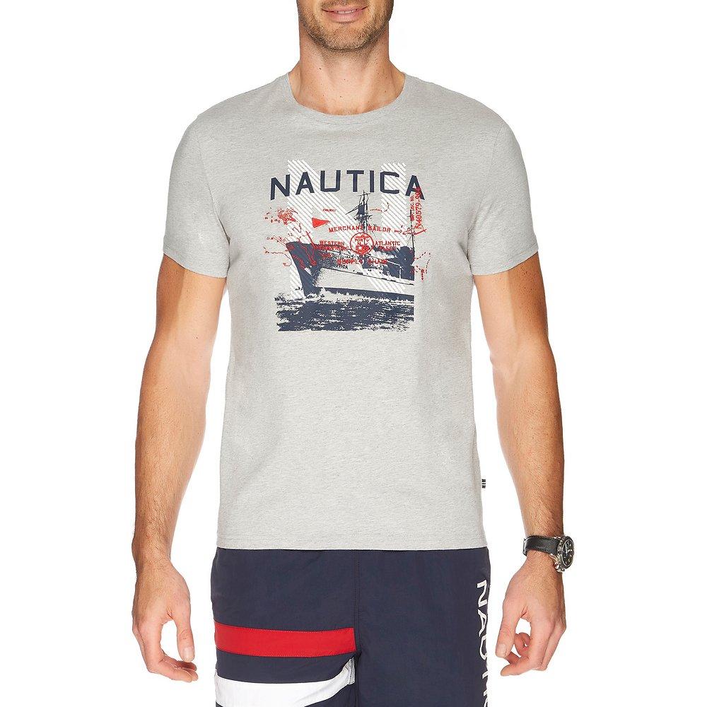 SHORT SLEEVE NAUTICA SAILOR SHIP GRAPHIC TEE