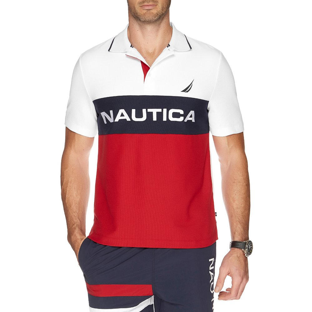 Nautica Colour block performance polo
