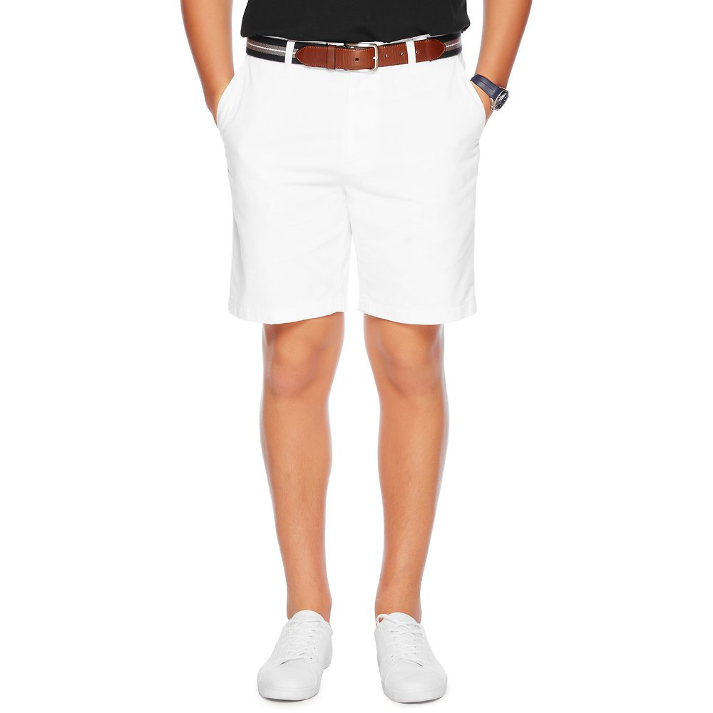 Nautica FLAT FRONT COTTON TWILL SHORT