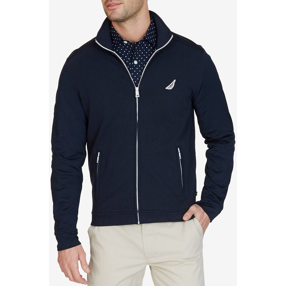 Nautica SLIM FRENCH TERRY TREKKER JACKET