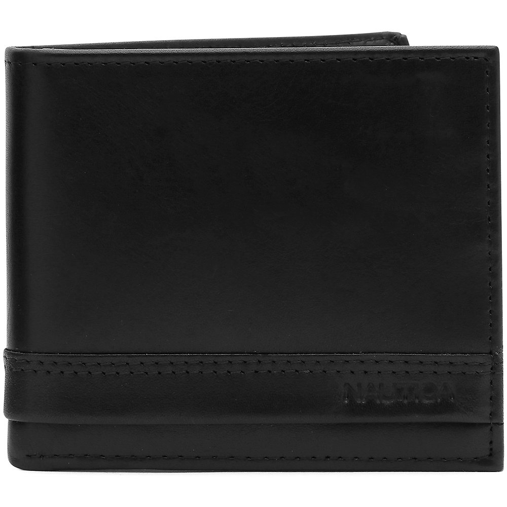 Leather Slim Pass case Nautica Embossed Wallet