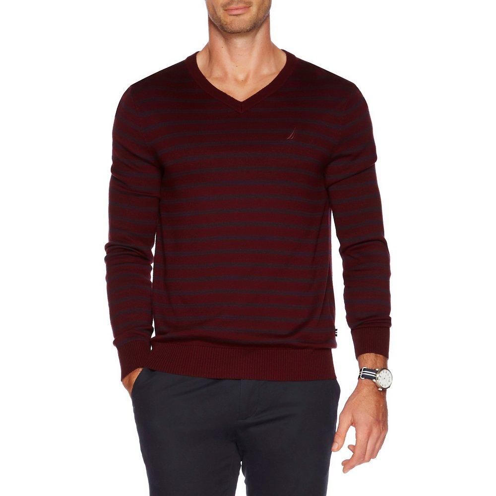 Nautica V-neck stripe sweater