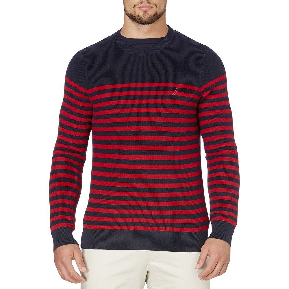 Nautica Crew neck Breton stripe sweater