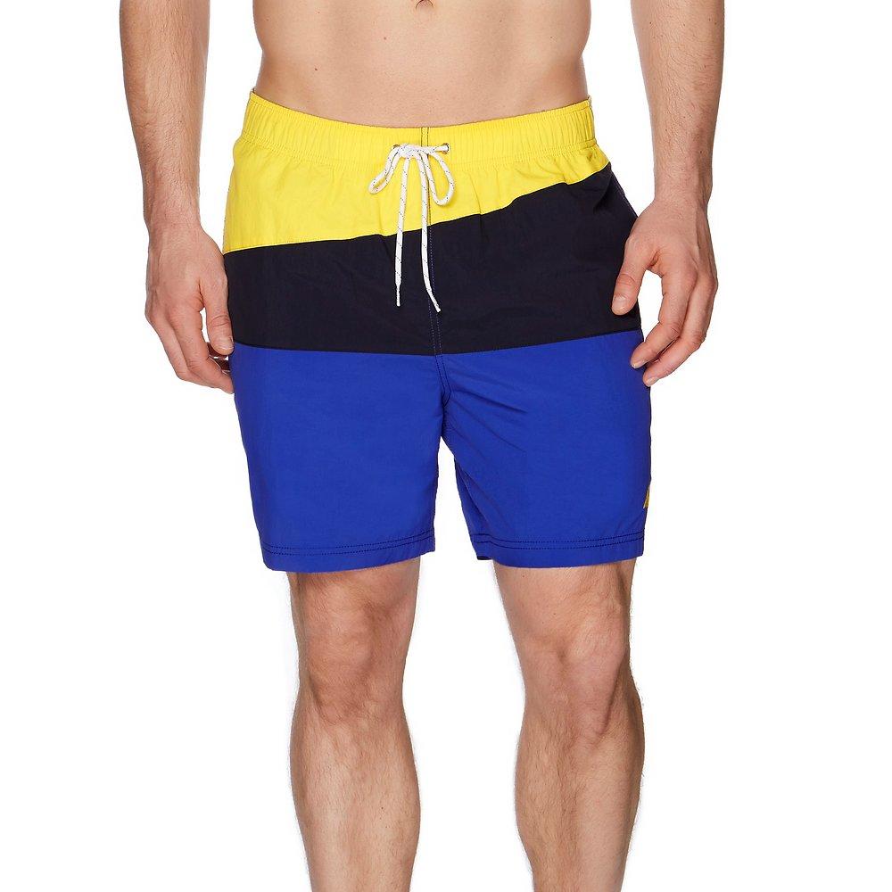 Diagonal Colour Block Swim Short