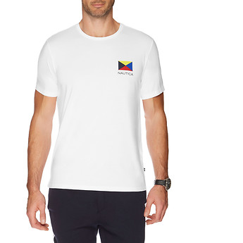Nautica SHORT SLEEVE SIGNAL FLAG T-SHIRT