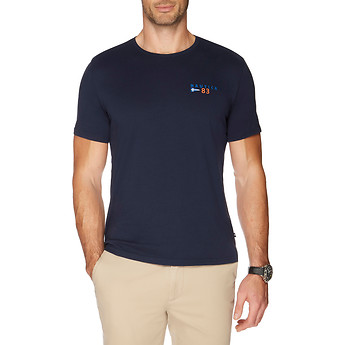 Nautica SHORT SLEEVE DYNAMIC 'N' & FLAG T-SHIRT