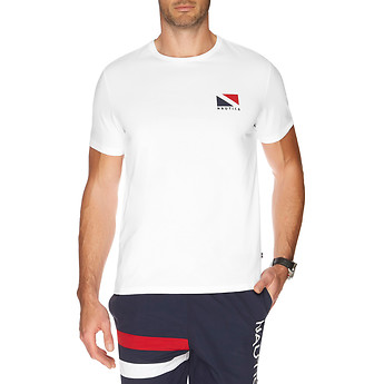 Nautica SHORT SLEEVE DYNAMIC 83 & SIGNAL FLAG T-SHIRT
