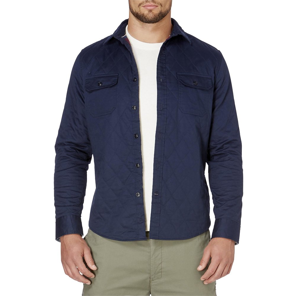 Nautica LONG SLEEVE QUILTED TWILL SHIRT