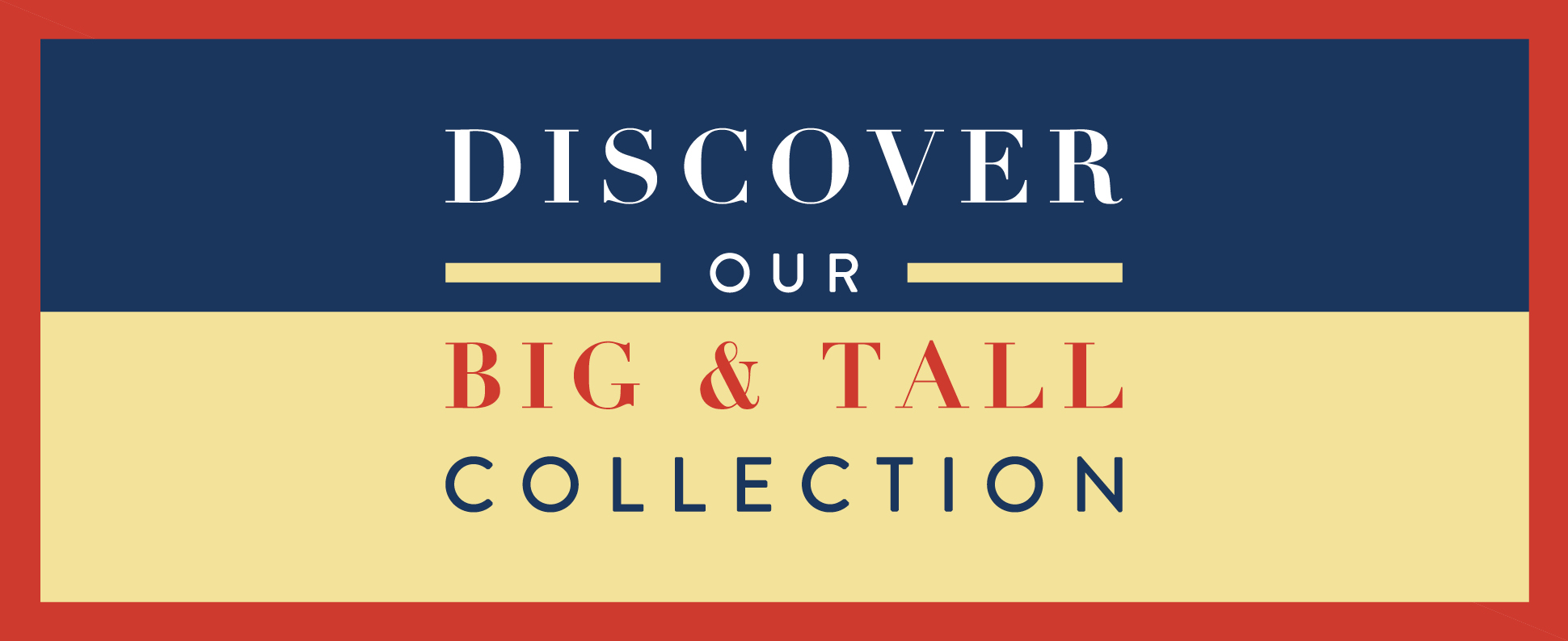 big & tall collection