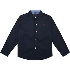 Image of Nautica NAVY LITTLE BOYS (2-7) LONG SLEEVE WOVEN SHIRT