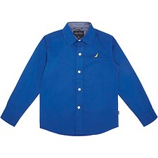 Image of Nautica BLUE LITTLE BOYS (2-7) LONG SLEEVE WOVEN SHIRT
