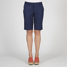Image of Nautica NAVAL BLUE FLAT FRONT WALK SHORTS