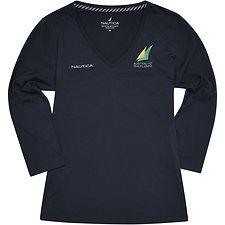 Image of Nautica NAVY Women's Official Australian Sailing Team 3/4 Sleeve T-Shirt