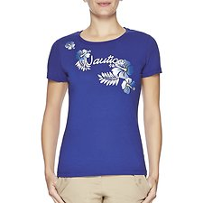 Image of Nautica BRIGHT COBALT Short Sleeve Floral Graphic Tee