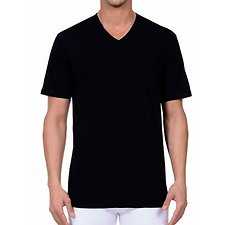 Image of Nautica BLACK 3 PACK V-NECK T SHIRTS