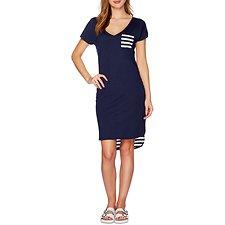 Image of Nautica PEACOAT Short Sleeve Dolan T-shirt Dress