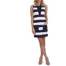 Image of Nautica PEACOAT Striped Basket Weave Dress